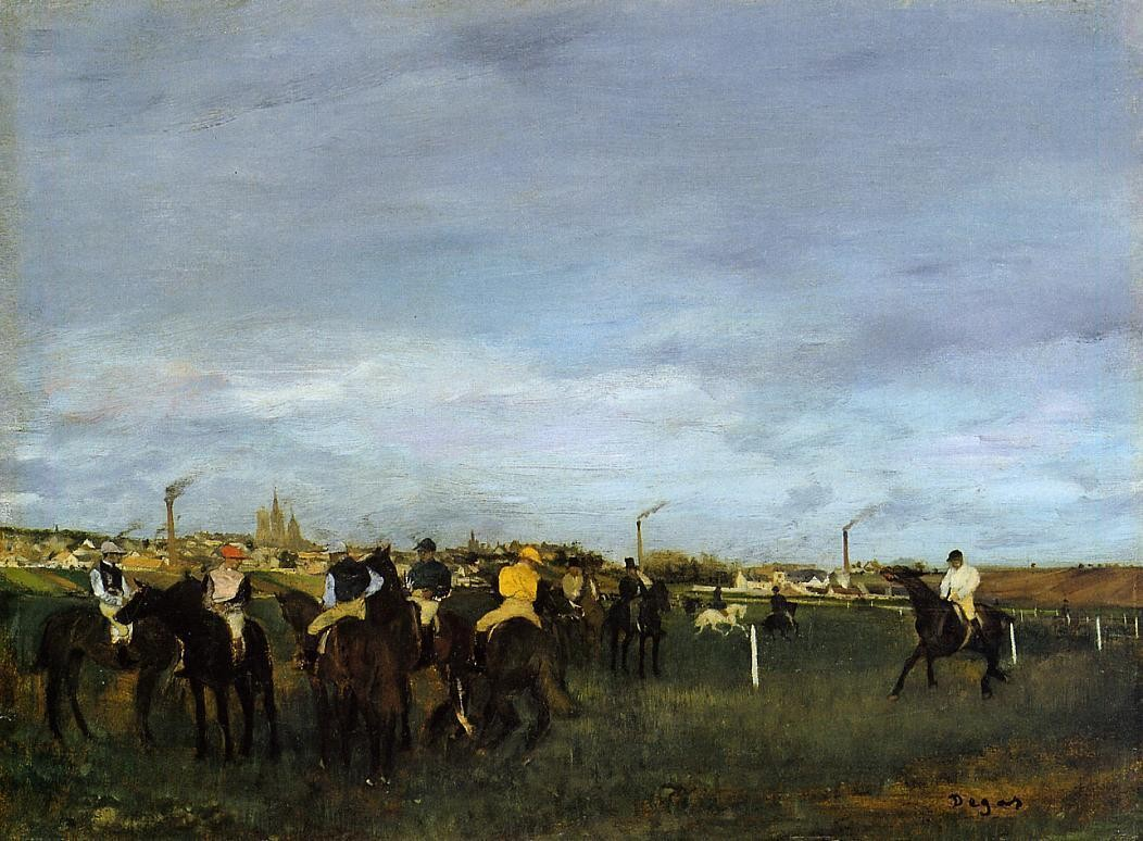 Before the race, 1871,1872, Edgar Degas